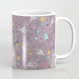 Cat mermaids under the sea. Funny elephant and unicorn kitty. Coffee Mug