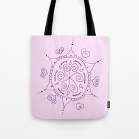 henna Tote Bags featuring Henna by Melissa Wildt