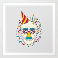 happy birthday Art Prints featuring Happy Birthday by Quick Brown Fox