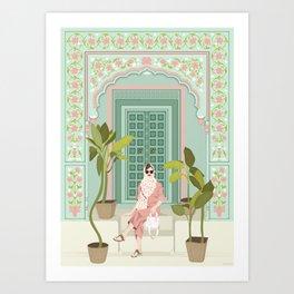 The Pastel Door Art Print