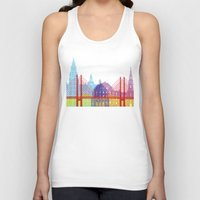 copenhagen Tank Tops featuring Copenhagen skyline pop by Paulrommer