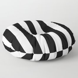 Black & White Vertical Stripes - Mix & Match with Simplicity of Life Floor Pillow
