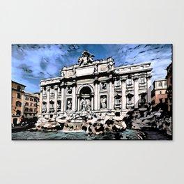 Fontana di Trevi, Rome Canvas Print