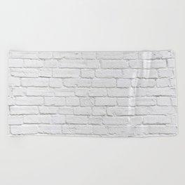 White Brick Wall Beach Towel