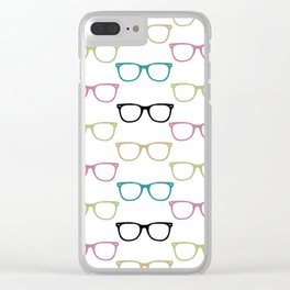 Funky Glasses Clear iPhone Case