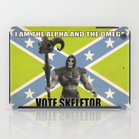skeletor iPad Cases featuring Vote Skeletor by Itomi Bhaa