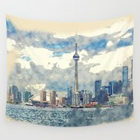 canada Wall Tapestries featuring Ontario Canada by Moonlake Designs
