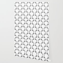 Daisies Pattern In Black And White Wallpaper