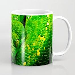 green tree python snake splatter watercolor Coffee Mug