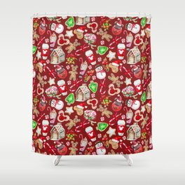 Christmas Snack Goals Shower Curtain