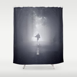 Halloween Fear (Color) Shower Curtain
