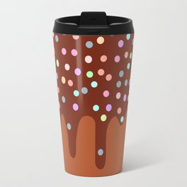Dripping Melted chocolate Glaze with sprinkles Travel Mug