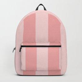Large Blush Pink Beach Hut Stripes Backpack