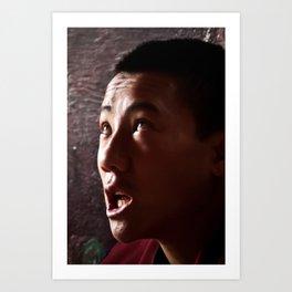 Chanting Monk Art Print
