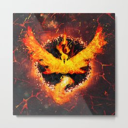 Flames of Valor Metal Print