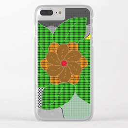 pattern with flower Clear iPhone Case