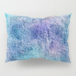Colorful Cool Tones Blue Purple Abstract Pillow Sham