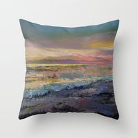 heaven Throw Pillows featuring Heaven by Michael Creese
