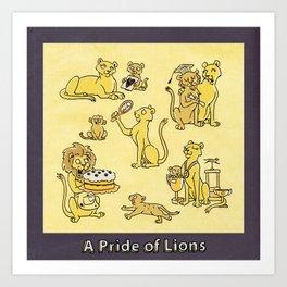 A PRIDE OF LIONS Art Print