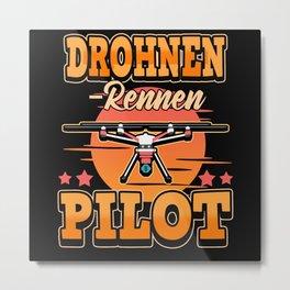 Drone Pilot FPV Flight Camera Racing Metal Print