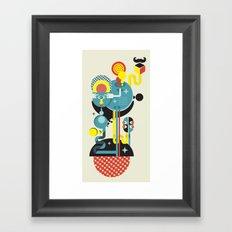 Blue Monster. Framed Art Print