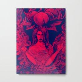 Lana's Peaches Pink Metal Print