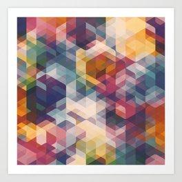 Cuben Curved #8 Art Print