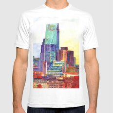 Sunshine in London MEDIUM Mens Fitted Tee White