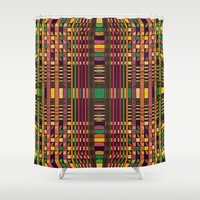 grid Shower Curtains featuring Grid by Glanoramay