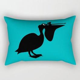 Angry Animals: Pelican Rectangular Pillow