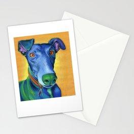 Margot the greyhound Stationery Cards