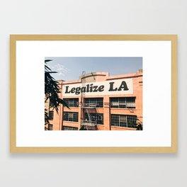 Legalize LA Framed Art Print
