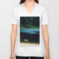 zen V-neck T-shirts featuring Zen by Tarraf Photography