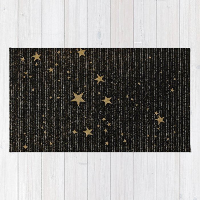 Paper Texture Stars Illustration from A high-school astronomy - Hiram Mattison - 1859 Rug