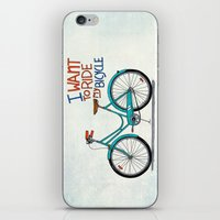 bicycle iPhone & iPod Skins featuring Bicycle by Prince Arora