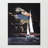 sailboat Canvas Prints featuring Sailboat by Madison Apple