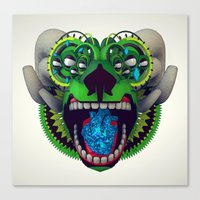 mythology Canvas Prints featuring Artificial Mythology by Diligence