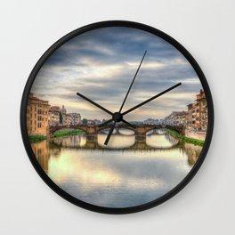 Italy Florence Arno Wall Clock