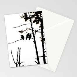 Three Crows High Contrast Stationery Cards