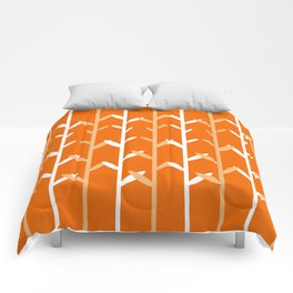 Oat Field Leafy Orange Pattern Comforters