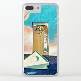 A tower in Shrewsbury with a fantasy twist Clear iPhone Case