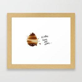 Every drop counts... Framed Art Print