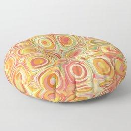 Colorful Pastel Dots Floor Pillow