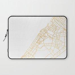 DUBAI UNITED ARAB EMIRATES CITY STREET MAP ART Laptop Sleeve