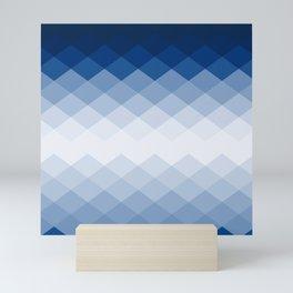 Navy rhombs Mini Art Print