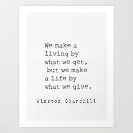 Winston Churchill quote 24 Art Print