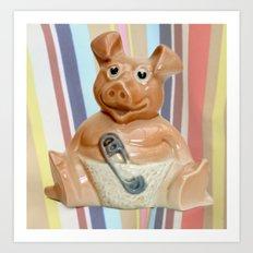 Nat West Piggy Bank Art Print