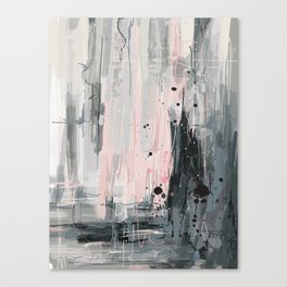 Soft Pink Abstract Canvas Print