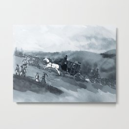 The Old Stagecoach Metal Print