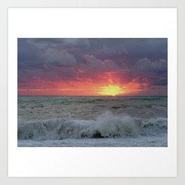 sea sunset Art Print